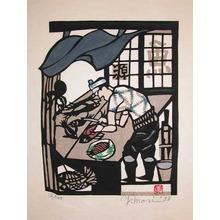 Mori Yoshitoshi: Fishmonger - Ronin Gallery