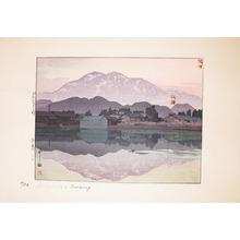 吉田博: Itoigawa Evening - Ronin Gallery