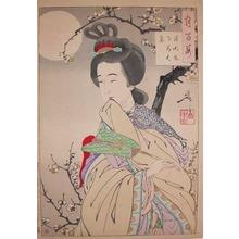 Tsukioka Yoshitoshi: Chinese Beauty in the Moonlight - Ronin Gallery