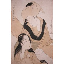 Kitagawa Utamaro: Cloth Stretchers - Ronin Gallery