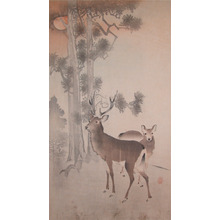 Koson: Deer in Forest - Ronin Gallery