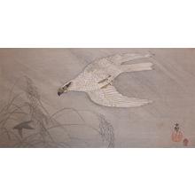Koson: Gos Hawk Chasing Prey in Rainstorm - Ronin Gallery