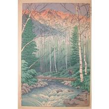 逸見享: Dawn at Takegawa Rapids - Ronin Gallery