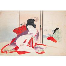 Tomioka Eisen: Masturbating Voyeur - Ronin Gallery