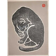 Sadanobu IV: Black Cat Cleaning - Ronin Gallery
