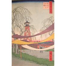 歌川広重: Hatsune Riding Ground in Bakuro-cho - Ronin Gallery