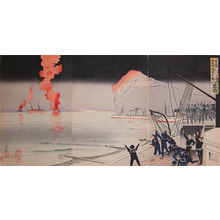Kobayashi Kiyochika: Russo-Japanese War at Inchon - Ronin Gallery