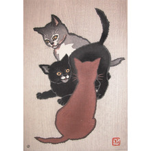 Shunsen: Three Cats - Ronin Gallery