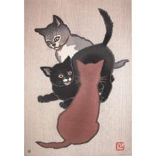 Shunsen: Three Cats - Ronin Gallery