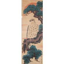 Kikugawa Eizan: Hawk at Sunrise - Ronin Gallery