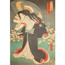 Utagawa Kuniaki: Bando Hikozaburo as Tsubone Iwafuji - Ronin Gallery