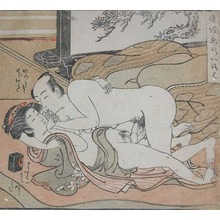 Isoda Koryusai: Finger Kiss - Ronin Gallery