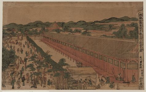 Utagawa Toyoharu: View of Sanjūsangendō in Kyōto. - Library of Congress