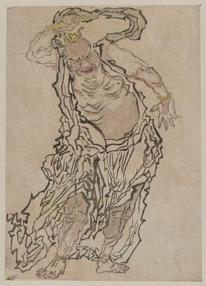 Unknown: Buddhist gate guardian Agyō. - Library of Congress