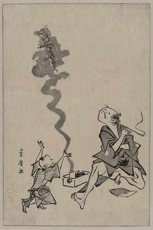 歌川豊広: Toba-e correspondence of a Chinese sage. - アメリカ議会図書館