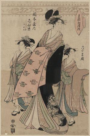 鳥高斎栄昌: The courtesan Shinateru of the Okamoto-ya. - アメリカ議会図書館