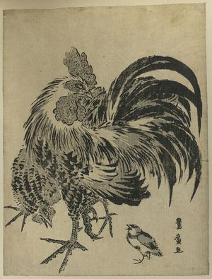 Utagawa Toyohiro: Hen and chick. - Library of Congress