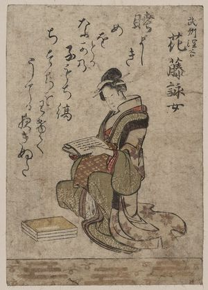 Ryuryukyo Shinsai: The beauty Anafuji Eijo. - Library of Congress