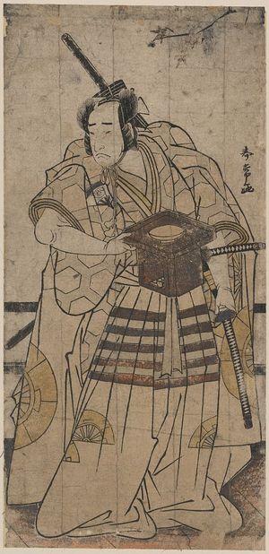 Katsukawa Shunjō: The actor Onoe Matsusuke in the role of Raikō Shitennō (Minamoto Yorimitsu). - アメリカ議会図書館