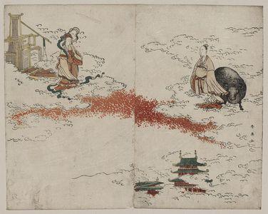 Katsukawa Shun'ei: Weaver maiden and the ox herder. - Library of Congress