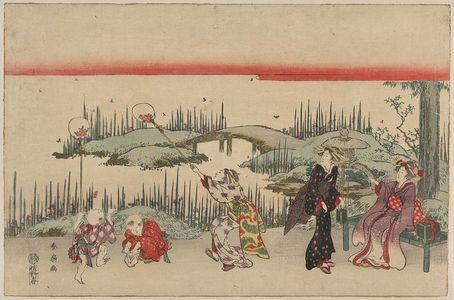Katsukawa Shunsen: Catching fireflies. - Library of Congress