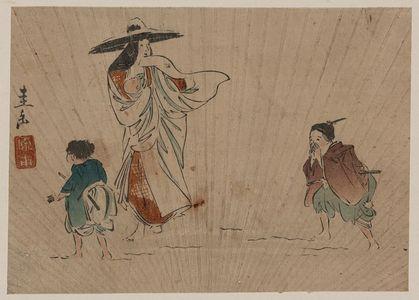 原田圭岳: Lady Tokiwa in the snow. - アメリカ議会図書館