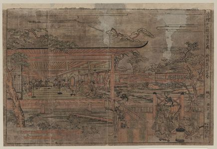 Utagawa Toyoharu: Perspective picture of the twelve movements of a musical performance. - Library of Congress