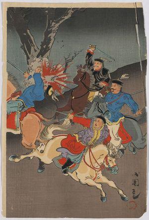Utagawa Kokunimasa: Sino-Japanese War. - アメリカ議会図書館