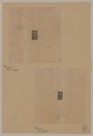 Unknown: [Design drawings for rectangular seals or stamps] - Library of Congress