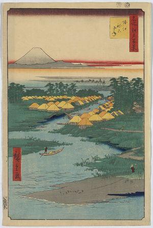 Utagawa Hiroshige: Horie and Nekozane. - Library of Congress
