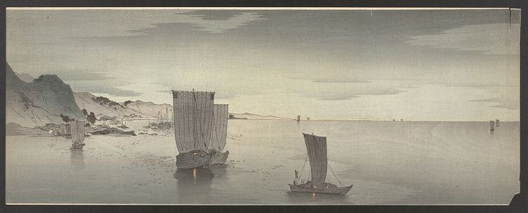 Ohara Koson: Evening sailboats. - Library of Congress