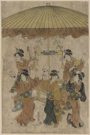 Hosoda Eishi: Sumiyoshi dance. - Library of Congress