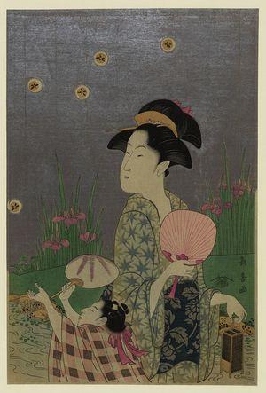Eishosai Choki: Fireflies. - Library of Congress