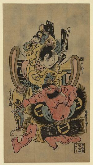 Torii Kiyonobu II: The actors Ichikawa Danjūrō and Sakata Hangorō. - Library of Congress