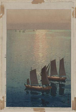 吉田博: The sparkling sea. - アメリカ議会図書館