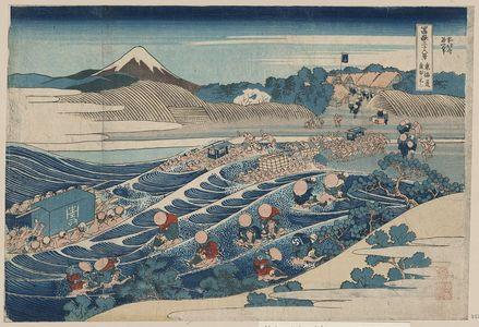 Katsushika Hokusai: Fuji at Kanaya on the Tōkaidō. - Library of Congress