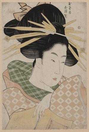 一楽亭栄水: The Courtesan Shizuka of Tama-ya. - アメリカ議会図書館