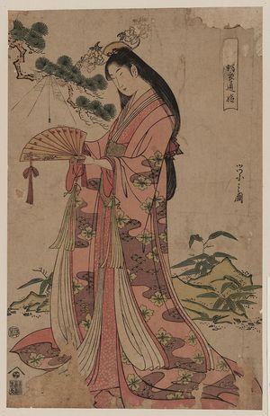 細田栄之: Sotoori hime - アメリカ議会図書館