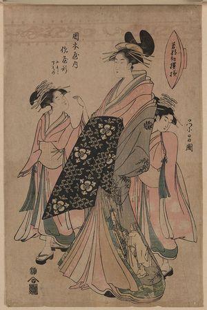 細田栄之: The courtesan Sayagata of Okamoto-ya. - アメリカ議会図書館