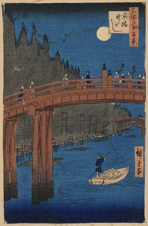 歌川広重: Bamboo yards, Kyobashi. - アメリカ議会図書館