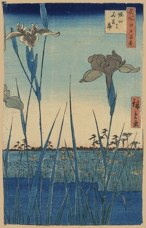 Utagawa Hiroshige: Horikiri iris garden. - Library of Congress