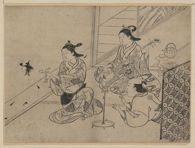 Nishikawa Sukenobu: Shadow puppets. - Library of Congress