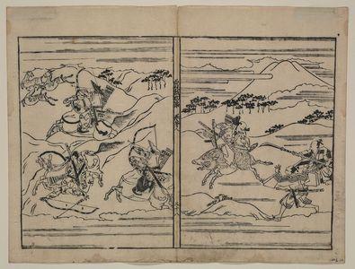 菱川師宣: [Two scenes related to the Soga family] - アメリカ議会図書館
