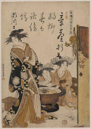 Santō Kyōden: The courtesan Segawa. - アメリカ議会図書館