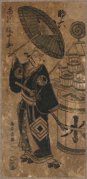 Torii Kiyohiro: The actor Ichikawa Danjūrō in the role of Sukeroku. - Library of Congress