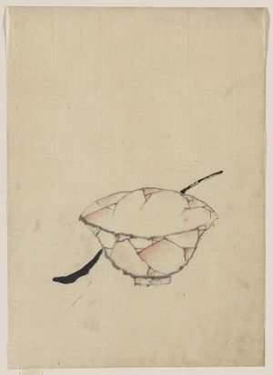 Katsushika Hokusai: [A bowl with a spoon(?)] - Library of Congress
