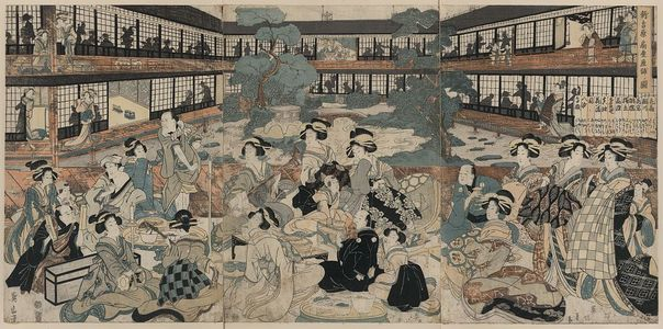 菊川英山: View of a room in the Ogi house of new yoshiwara. - アメリカ議会図書館