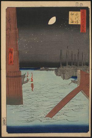 Utagawa Hiroshige: Tsukuda island from Eitai bridge. - Library of Congress