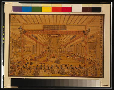 Utagawa Toyoharu: Perspective picture of Daidai Kagura performance at the two sites, Ise Shrine. - Library of Congress
