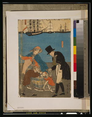 Utagawa Sadahide: Dutch people taking a Sunday walk in Yokohama. - Library of Congress